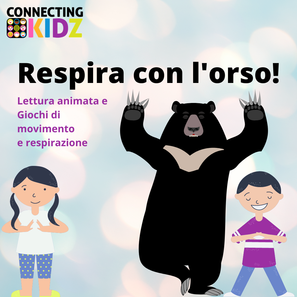 Respira insieme all'orso! - Lettura animata e giochi di rilassamento.